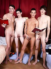 Staxus - Gang Bang: Nocturnal Emissions All Round As Four Horny Schoolboys Suck & Fuck All Night Long!