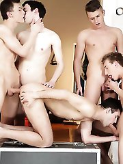 Staxus - Gan Bang: Sam Williams Gets Used Like A Fuck Rag By His Horny Buddies!